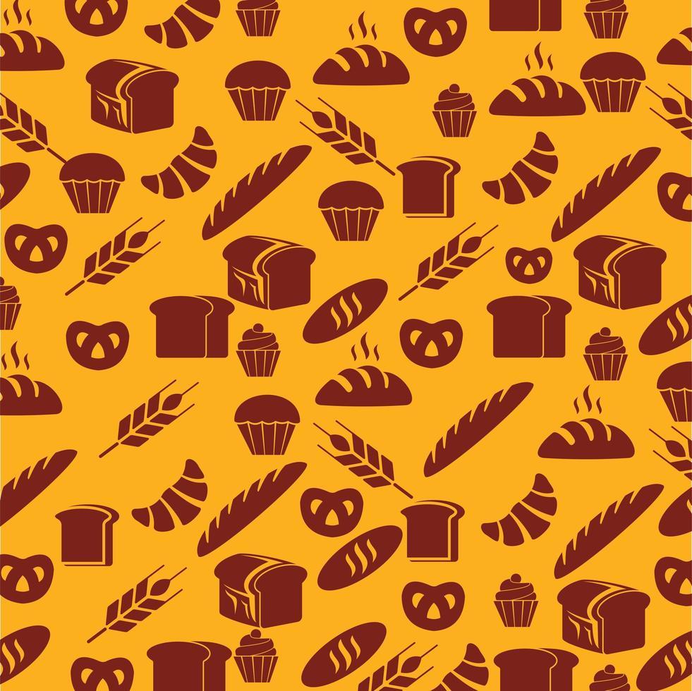 gebak en brood naadloos patroon vector