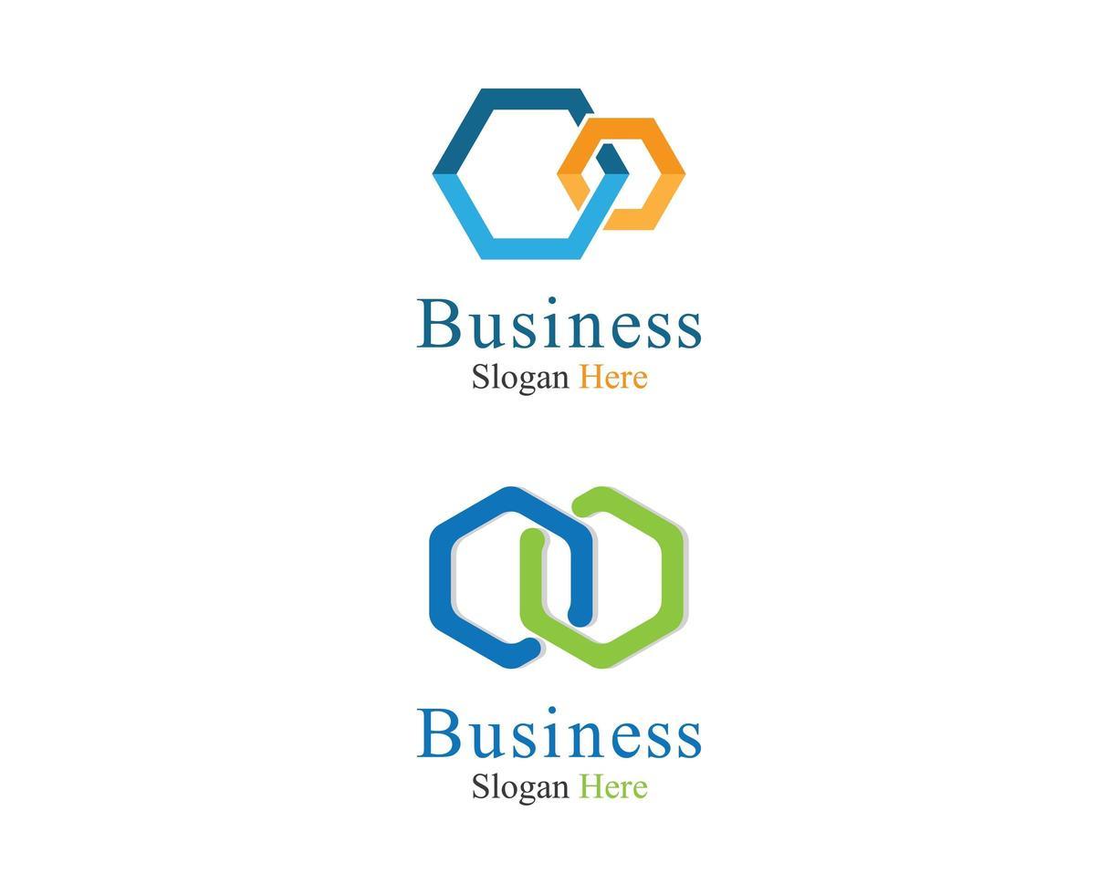 jeu d'icônes de modèle de logo d'entreprise vecteur