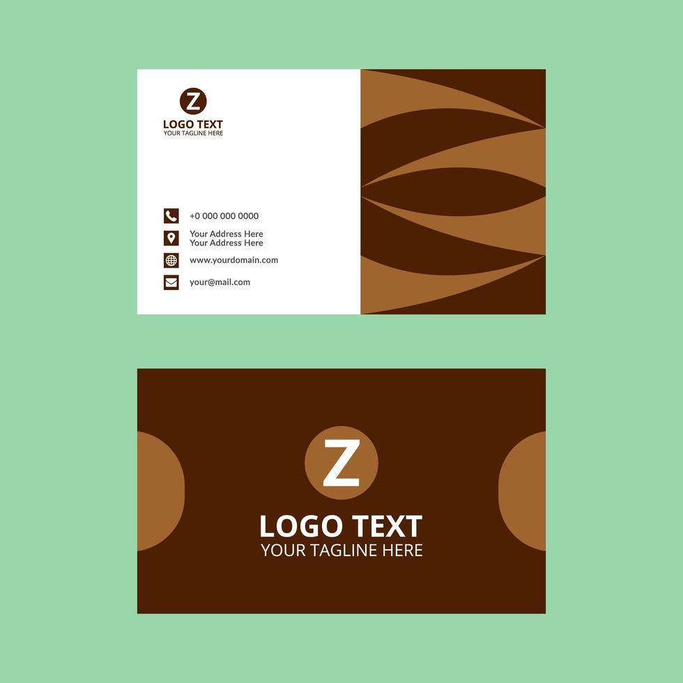 plantilla de tarjeta de visita elegante marrón vector
