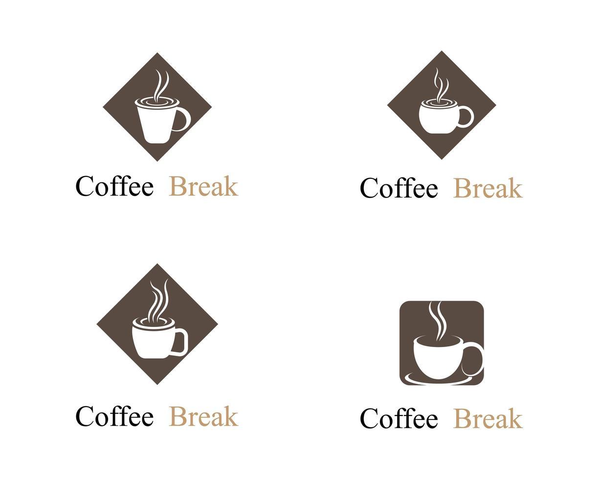 Coffee Cup Logo Set vector
