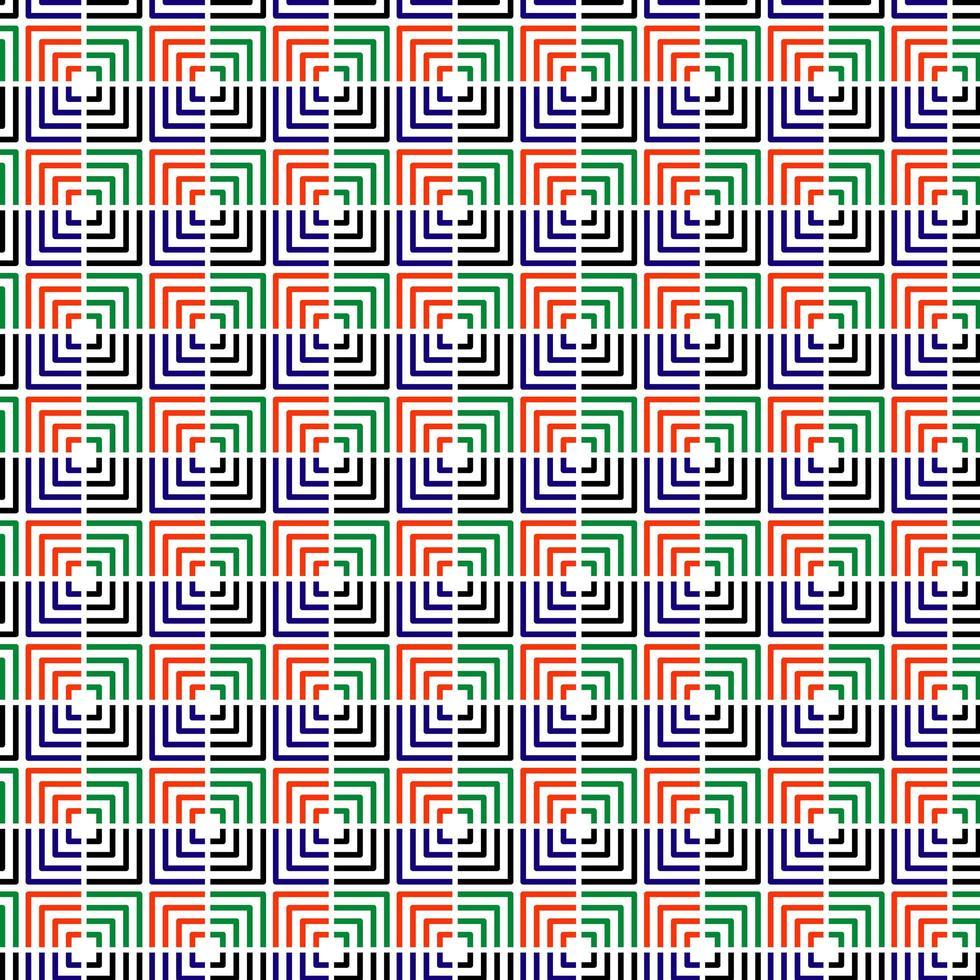 buntes getrenntes quadratisches nahtloses Muster vektor