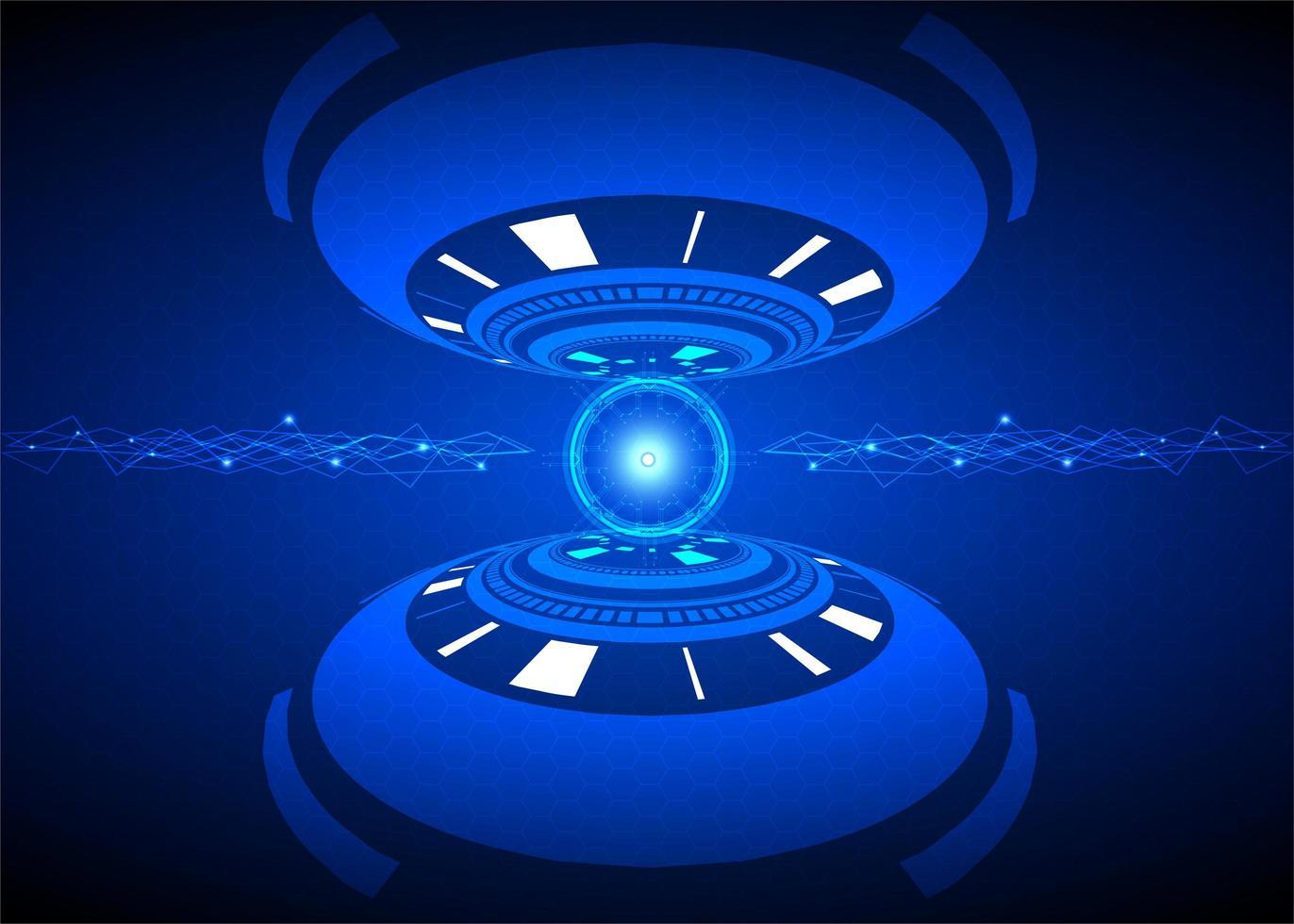 Cyber Security Technology Futuristic Design vector