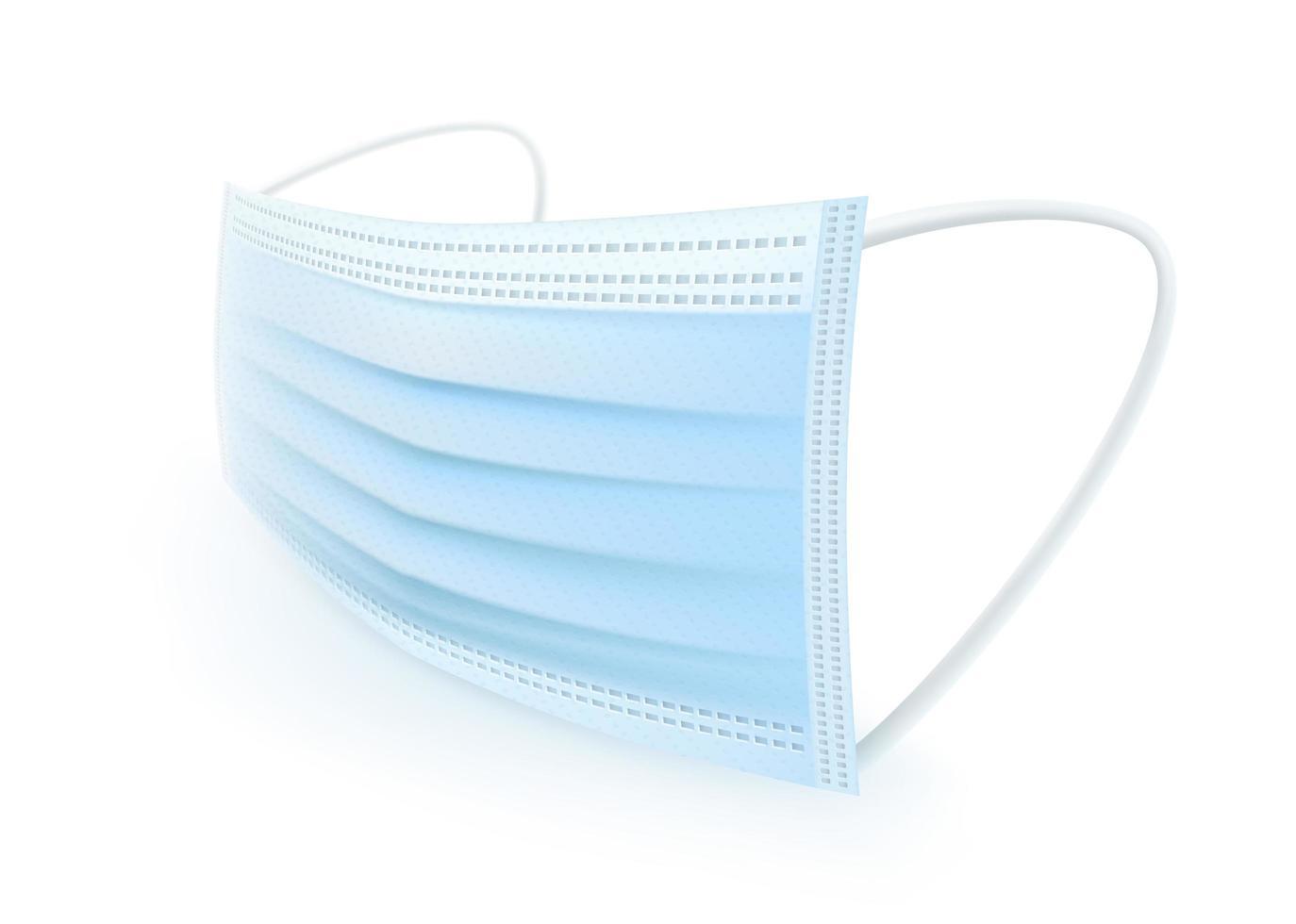 máscara protectora con gancho para la oreja vector