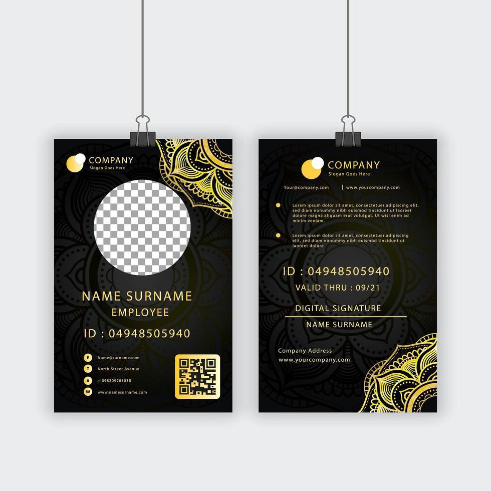 Royal Textur persönliche ID-Karte Vorlage vektor