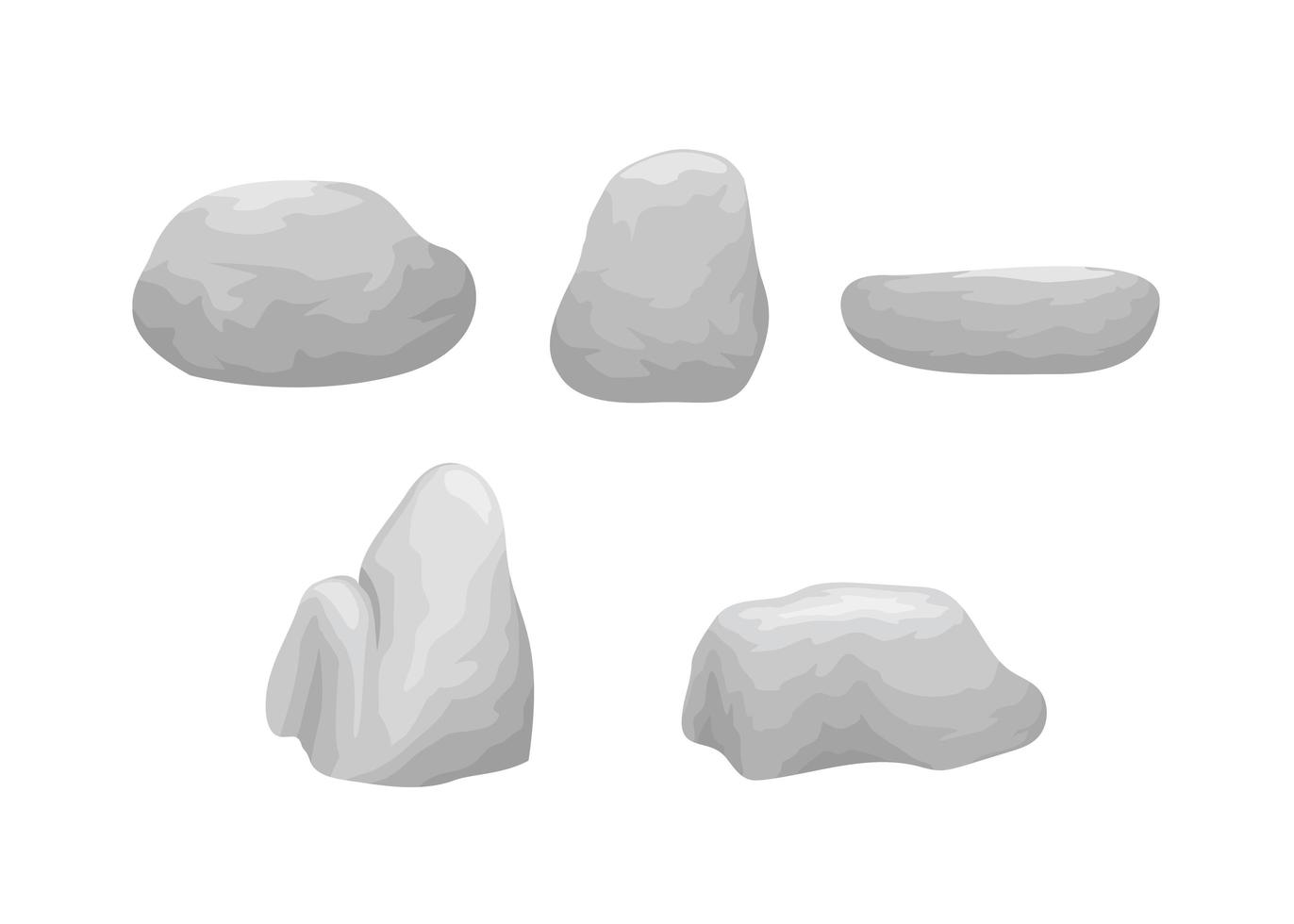 Set of Rocks and Stones vector