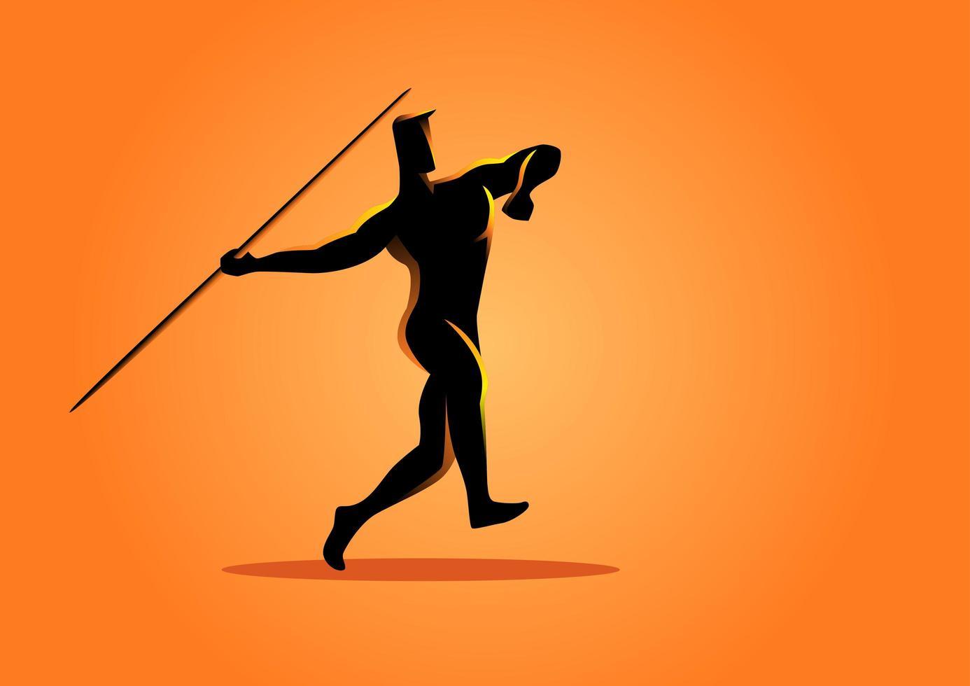 Sport Silhouette Javelin Thrower vector