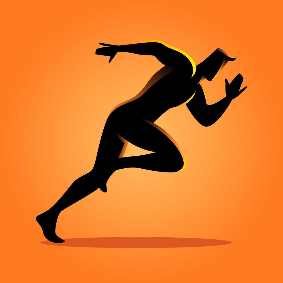 sport silhouet sprinter vector