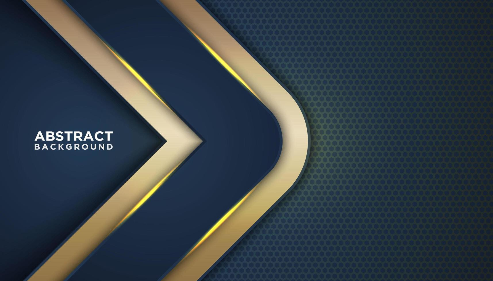 Dark Blue Abstract Background with Gold Angles vector