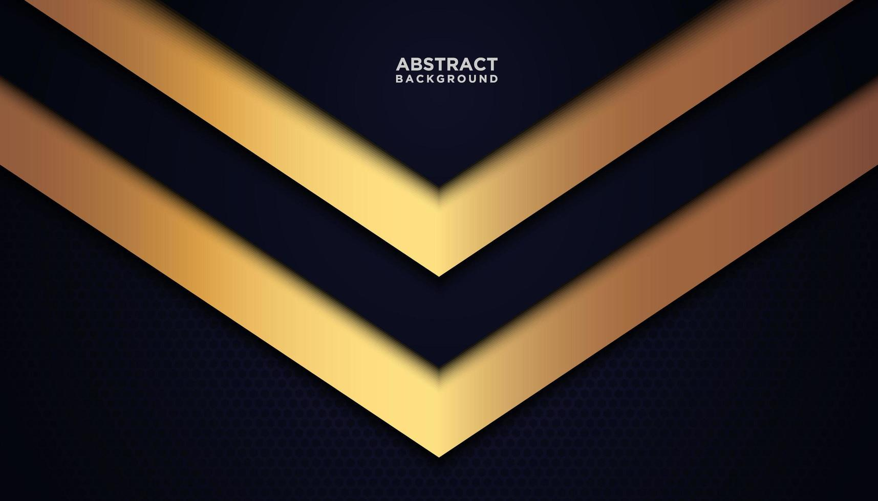 Navy and Gold Abstract Triangle Background vector