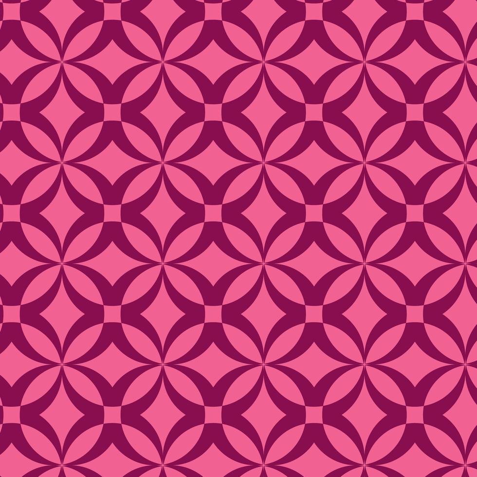 Pink Geometric Pattern Design vector
