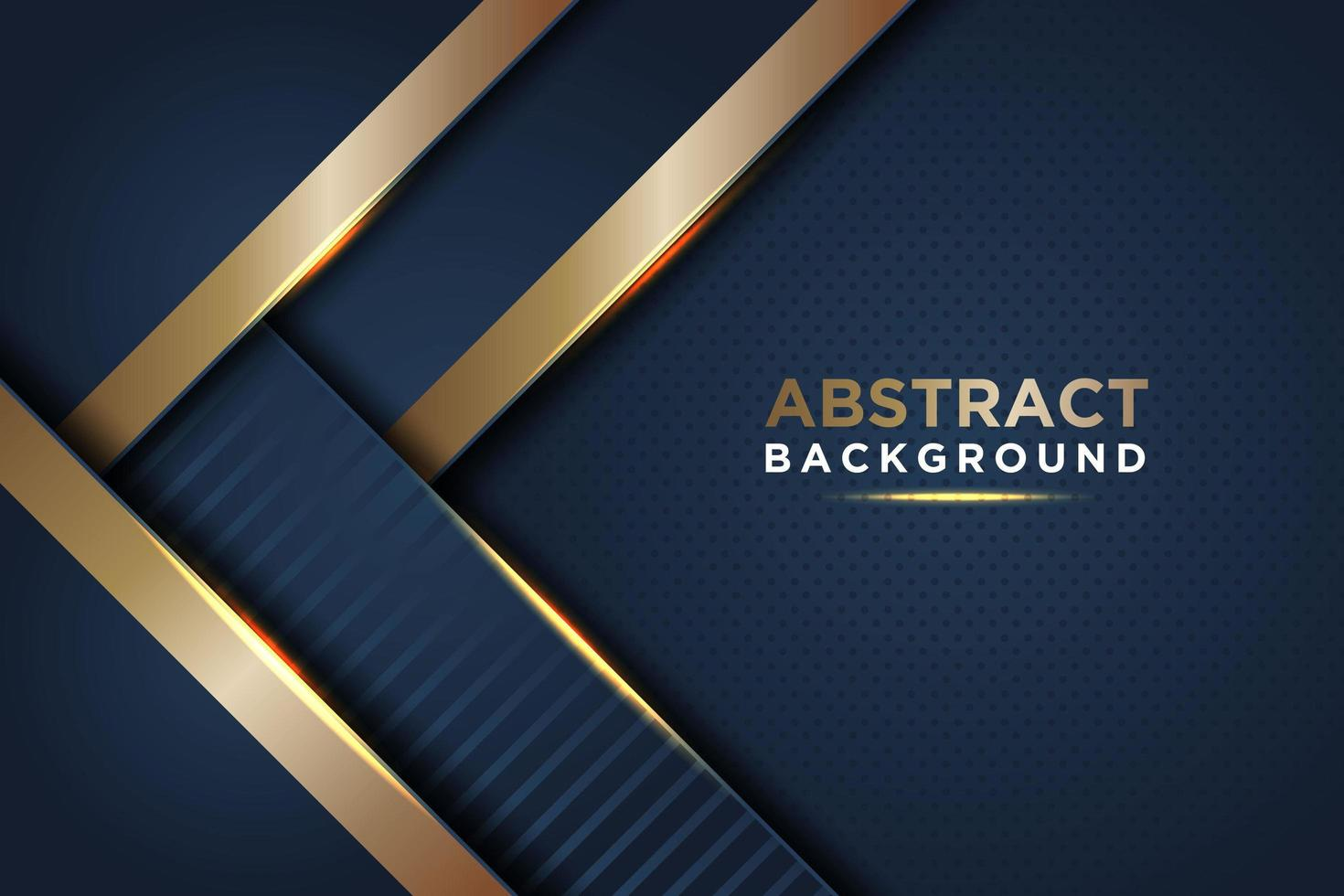 Overlapping Angled Dark Blue and Gold Background vector