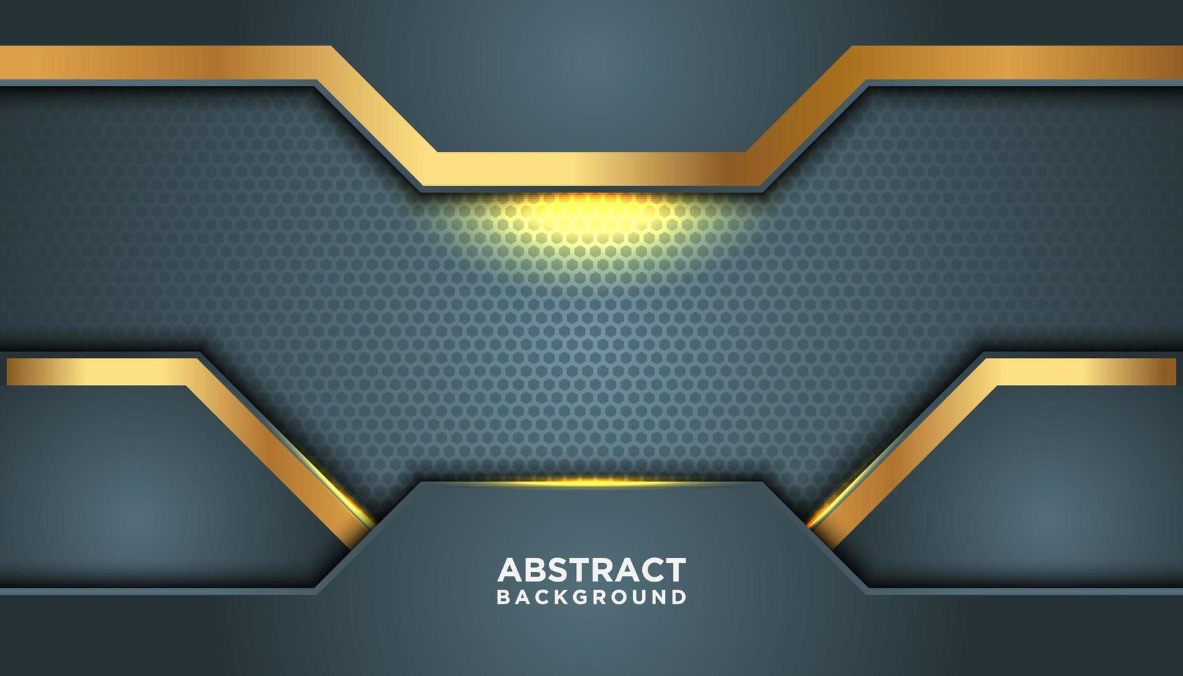 Blue Gray Glowing Background with Gold Details vector
