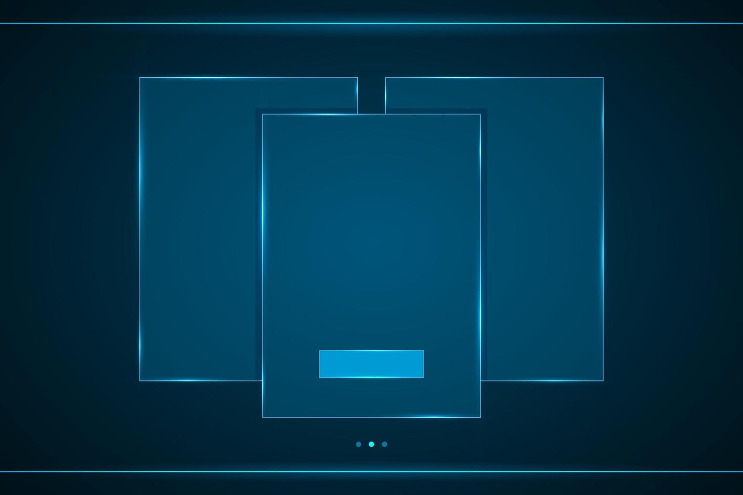 interfaz de tecnología de marco de rectángulo superpuesto hud vector