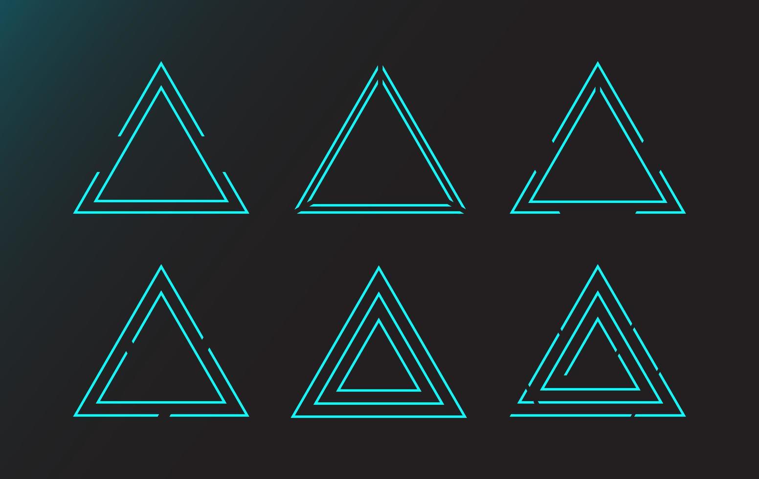 Elementos simples de la interfaz del triángulo hud vector