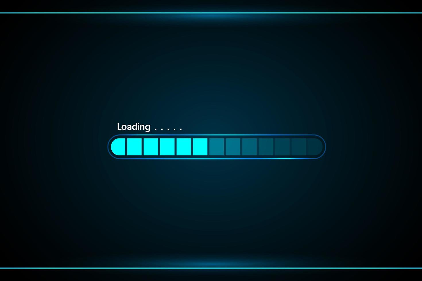 Loading Window Interface for HUD vector