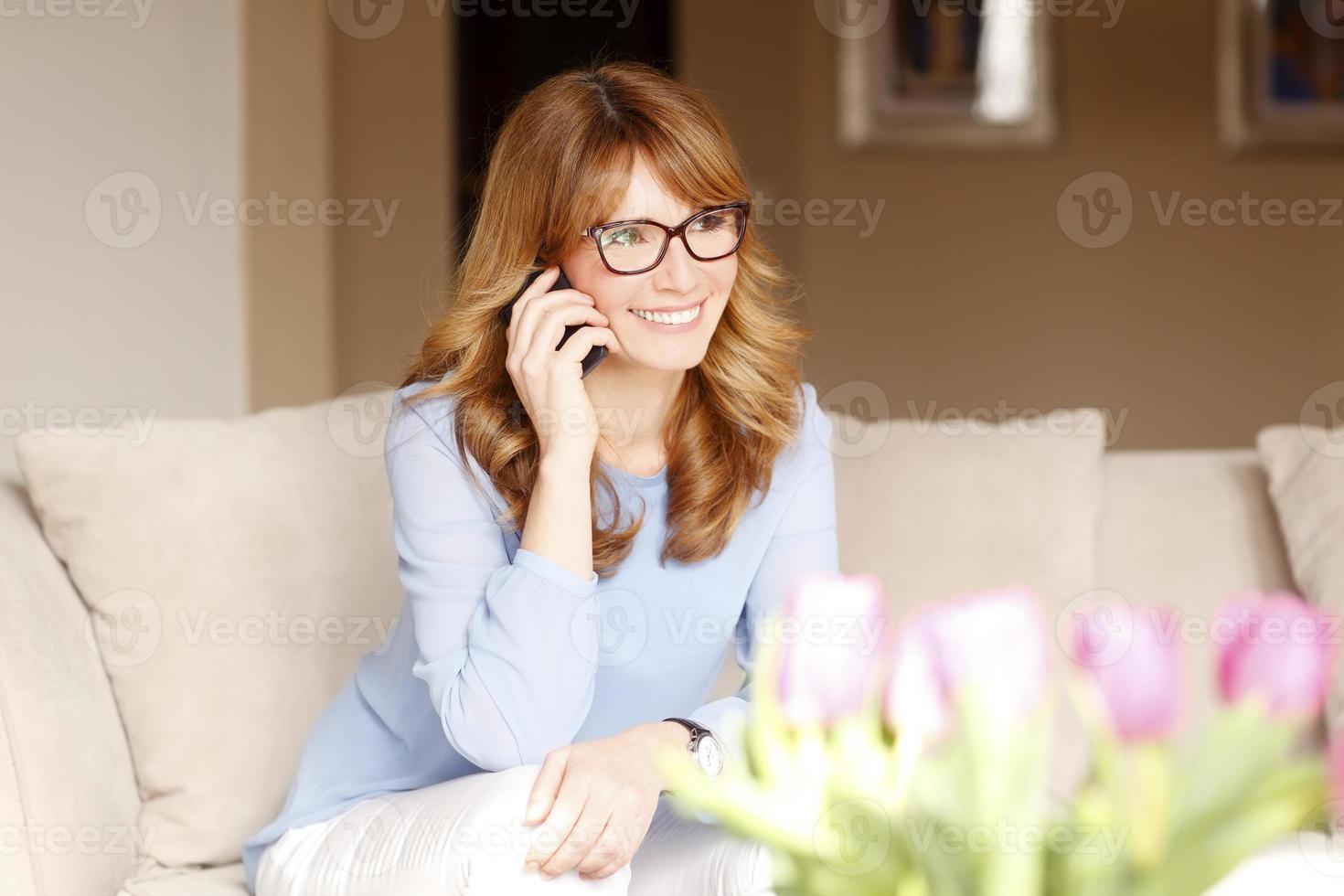 Busy businesswoman photo