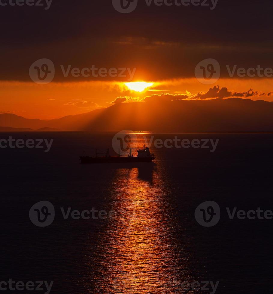 Ships at Sunset photo