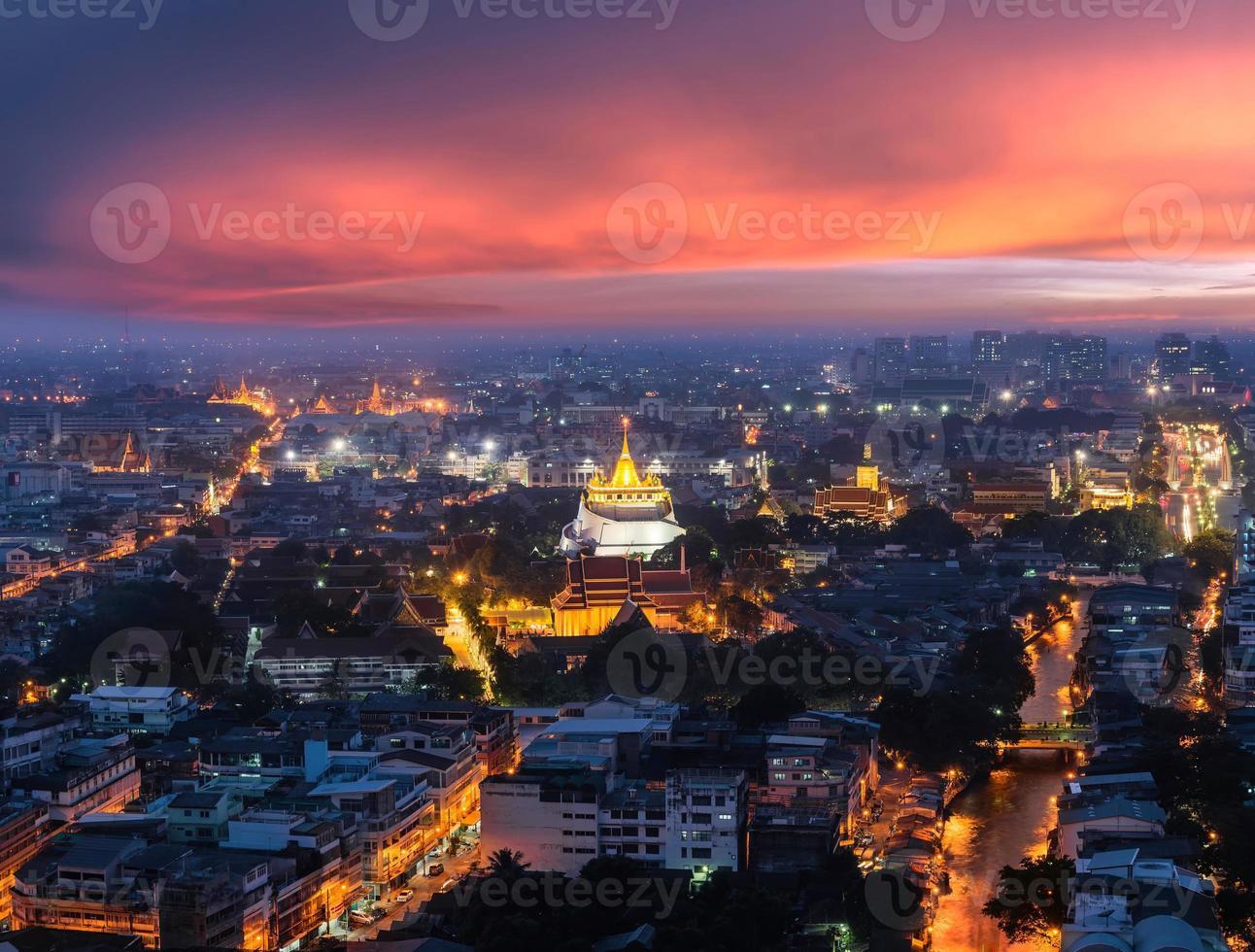 Golden mount sunset photo