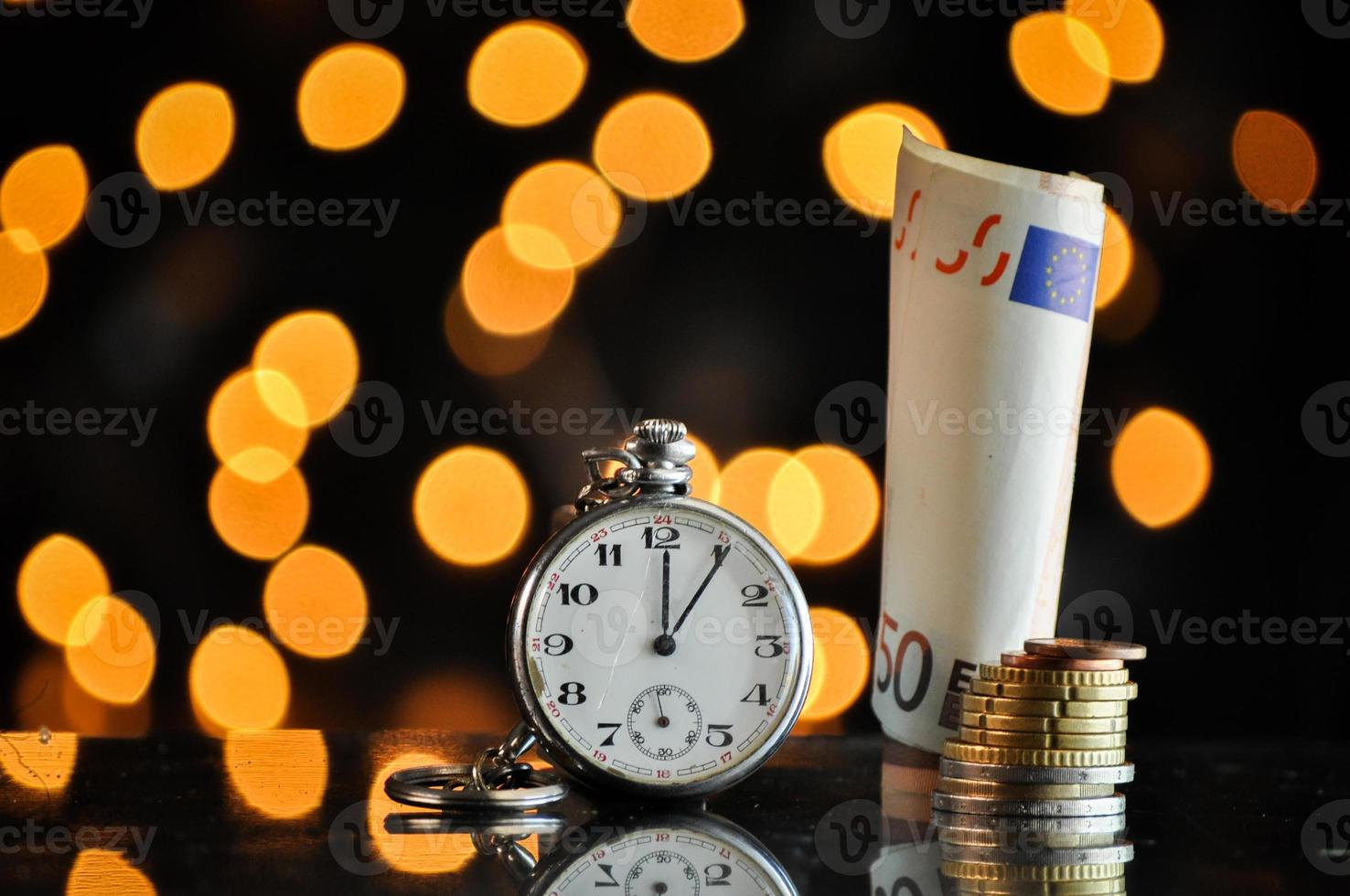 time and money, business concept photo