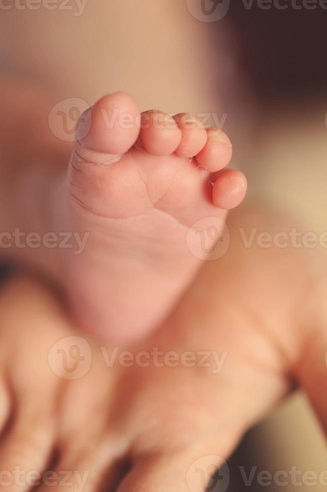 Baby foot close up photo