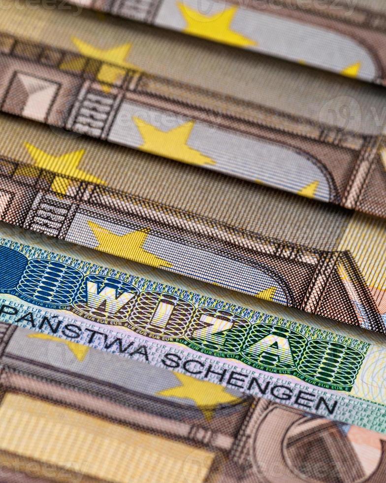 Schengen visa photo