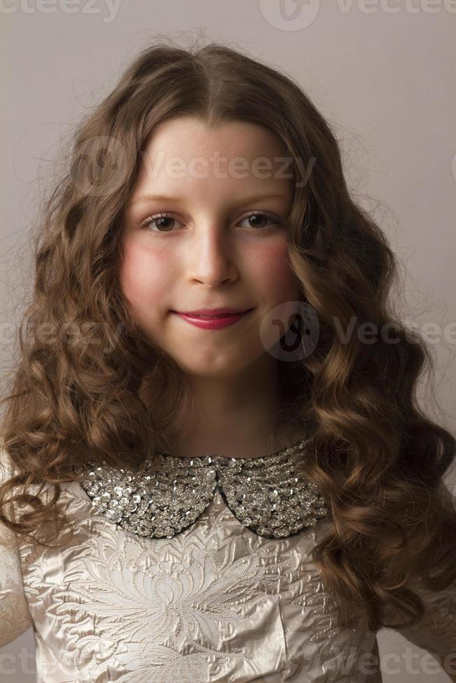 portrait of the young beautiful girl photo