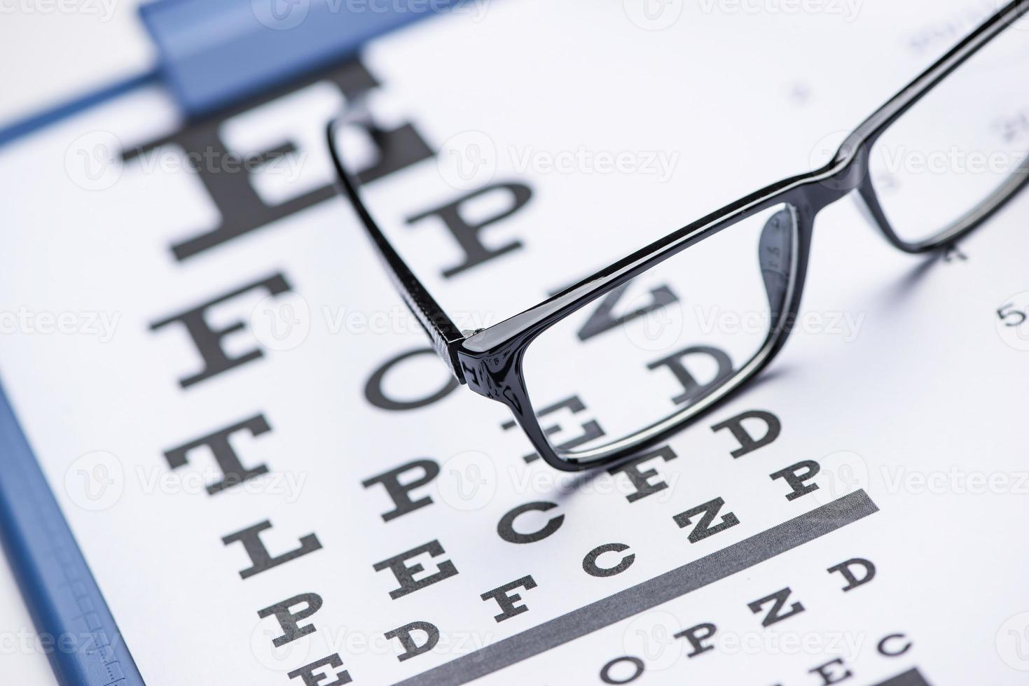 Eye test photo