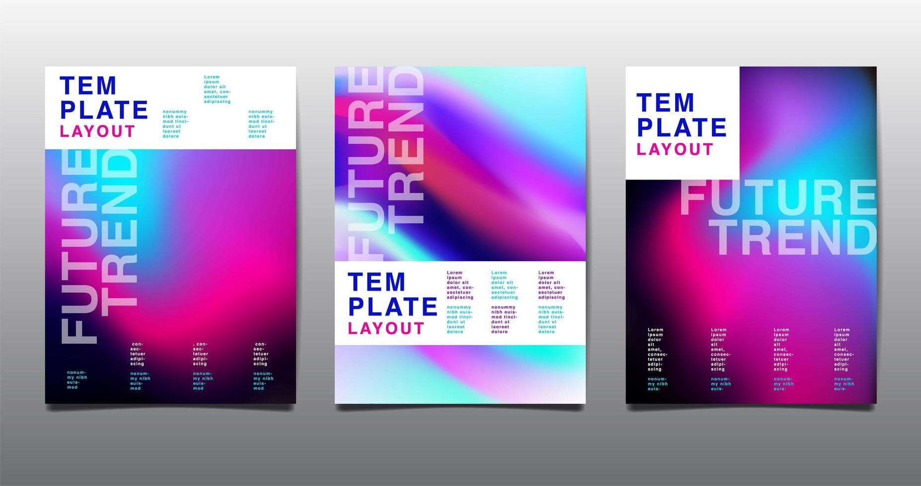 Modern Template Layout vector