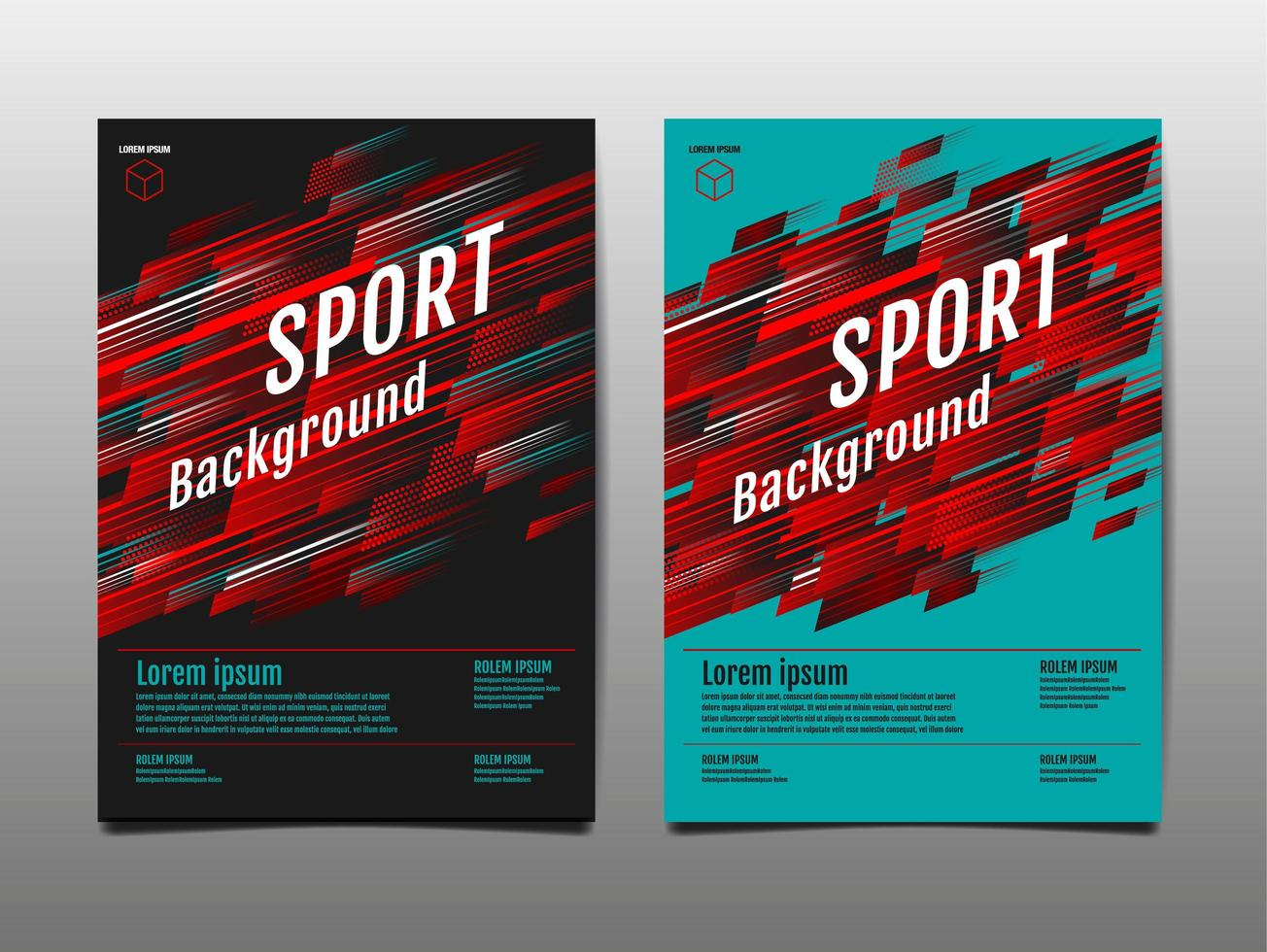 Sport motion cover template set vector