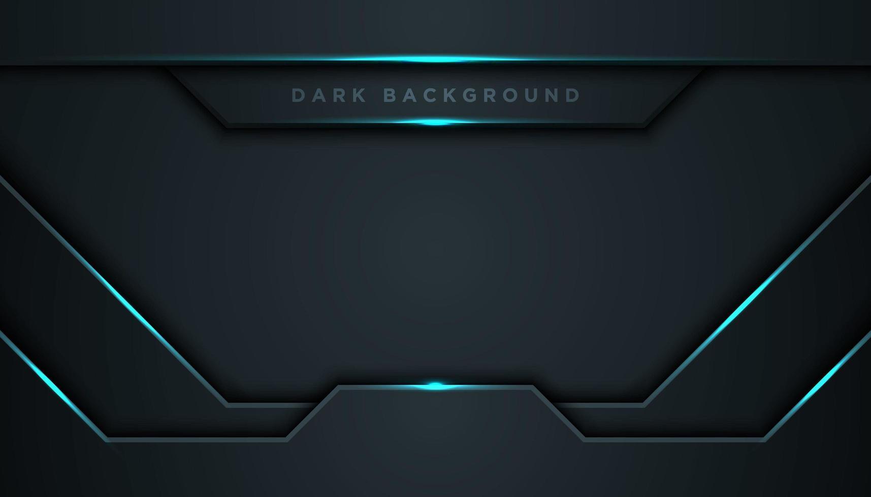 abstracto negro geométrico brillante azul líneas vector