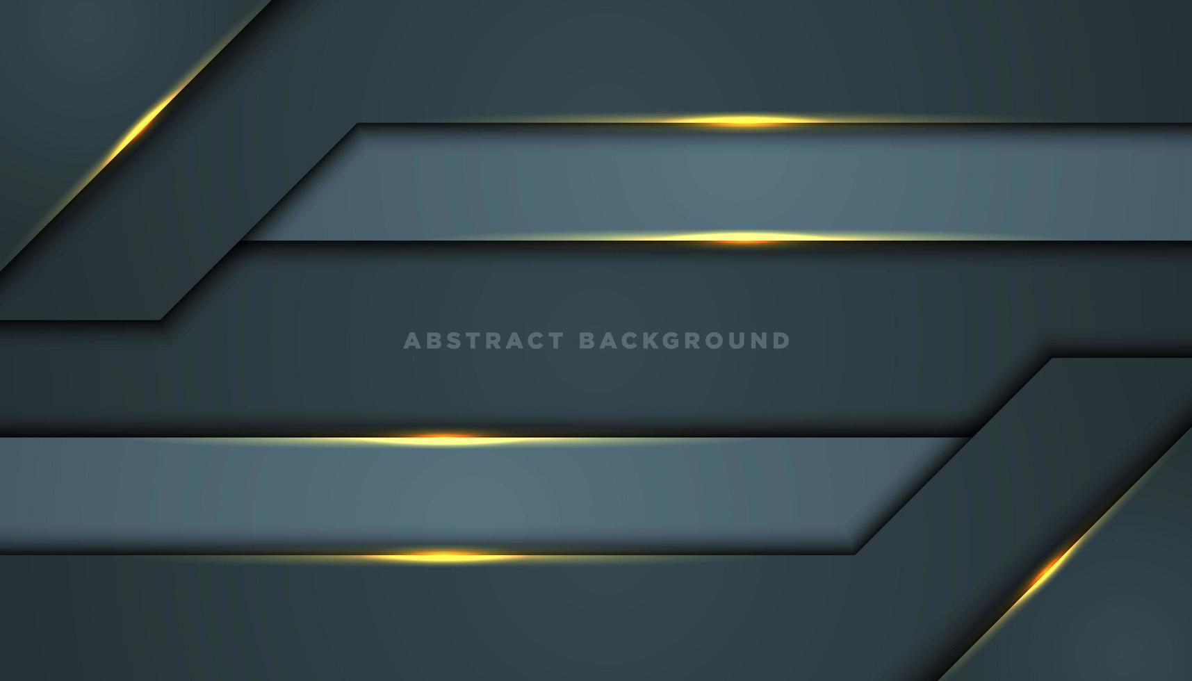 Fondo abstracto gris con capas de esquina ancha vector