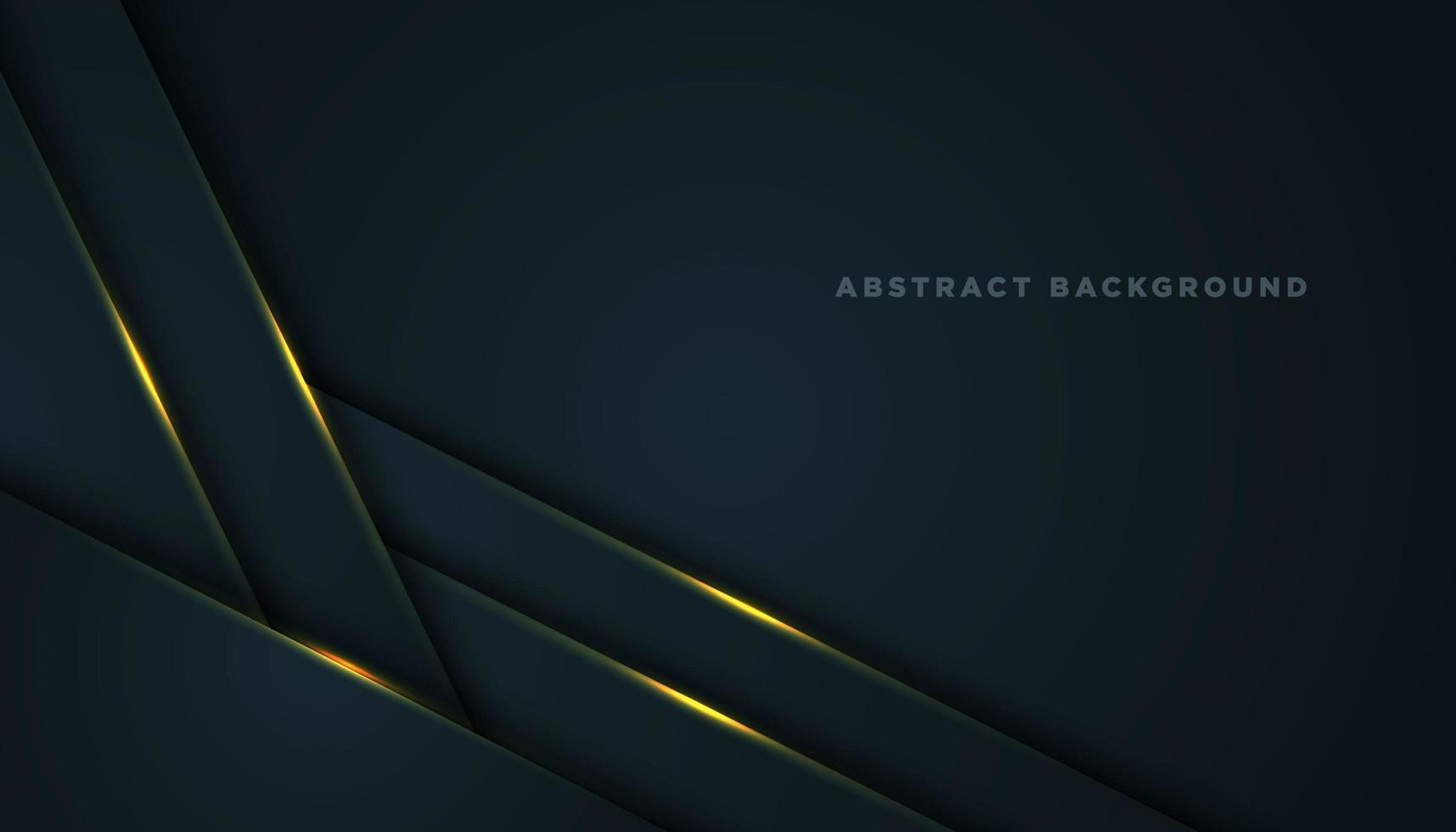 Fondo abstracto gris con capas de esquina diagonal vector