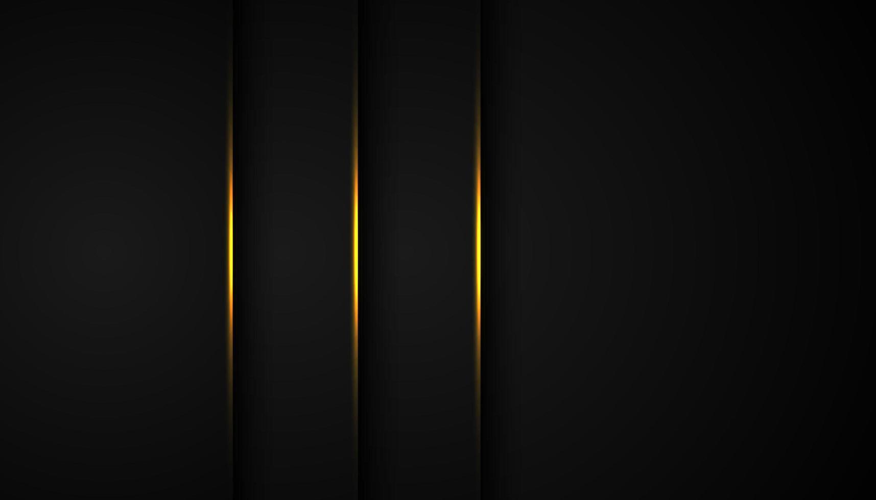 Fondo abstracto negro con capas verticales rectas vector