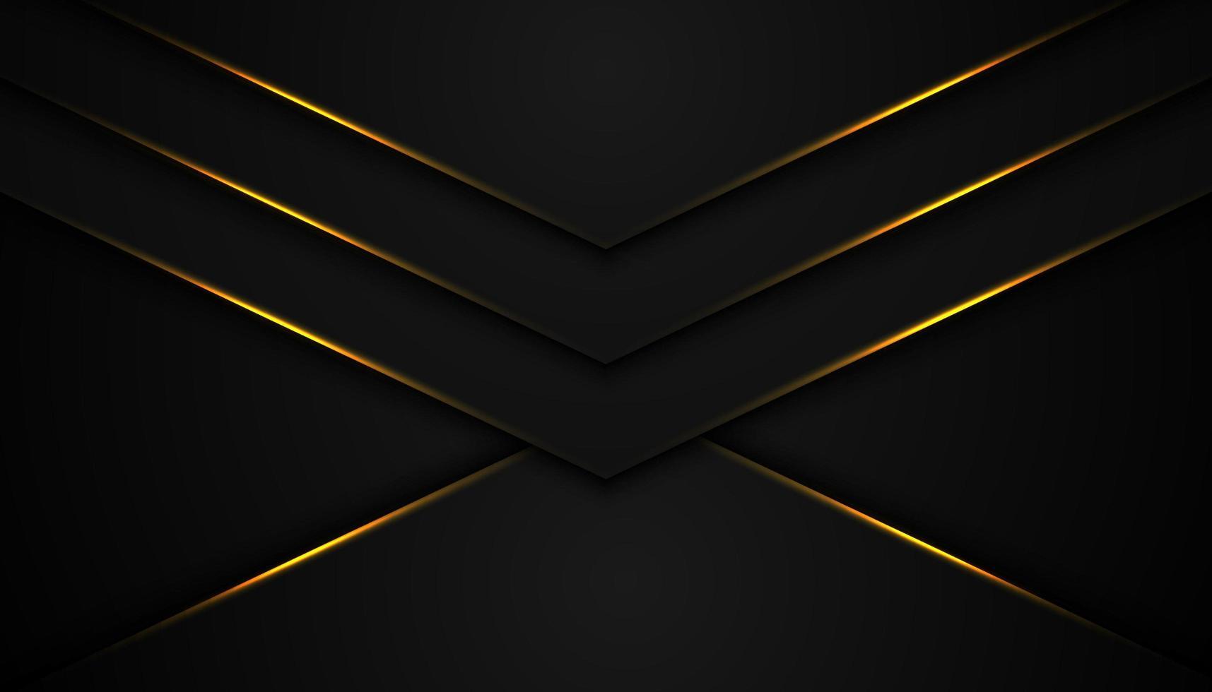 Fondo abstracto negro con capas en forma de V vector