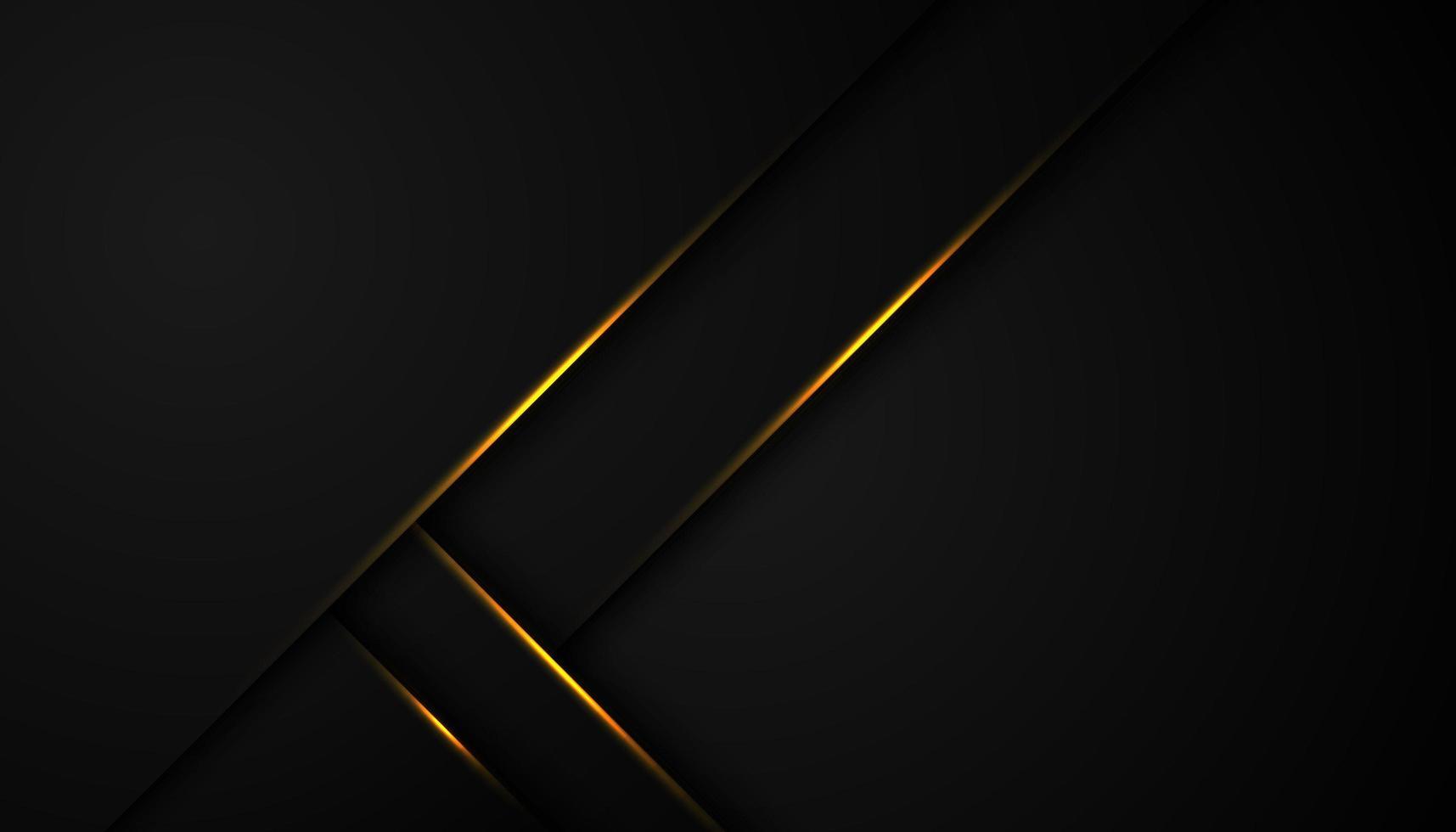 Fondo abstracto negro con varias capas de esquina vector