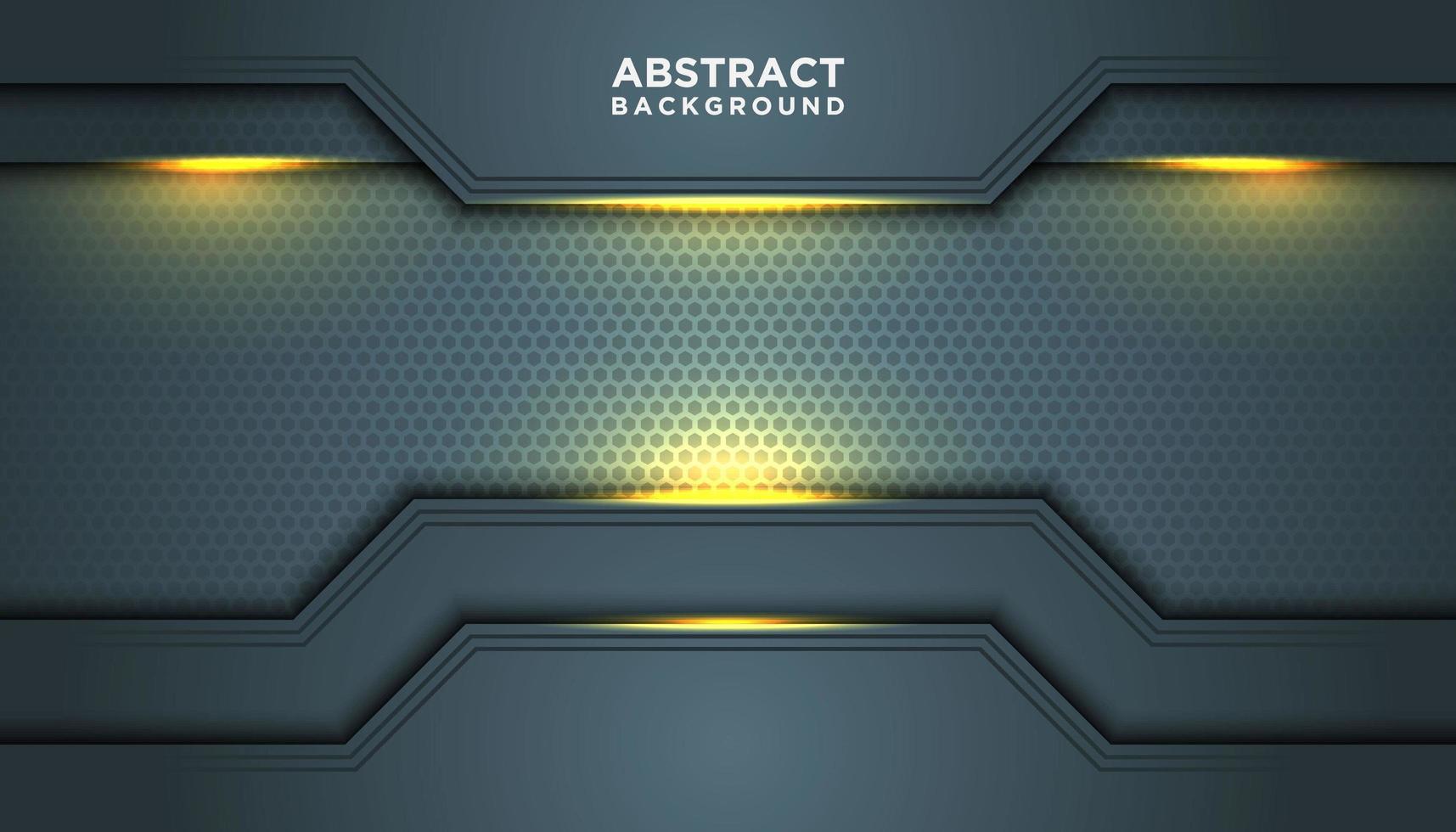 Fondo abstracto gris con capas de borde geométrico vector