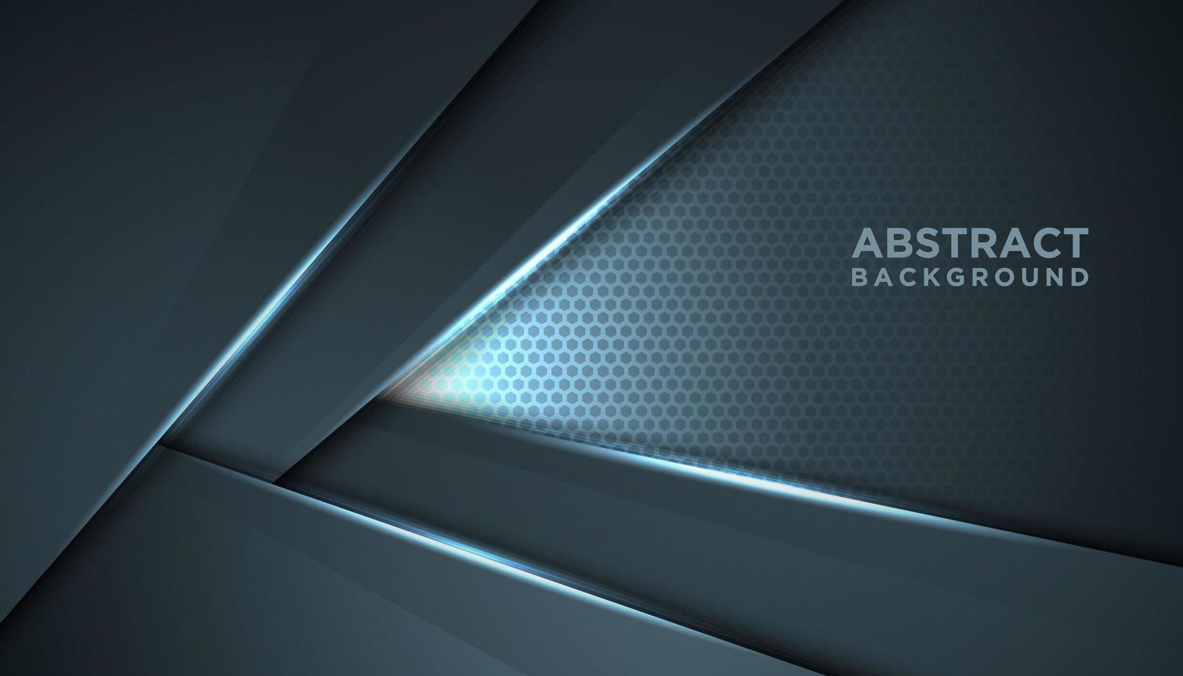 Fondo innovador gris abstracto en forma de V vector