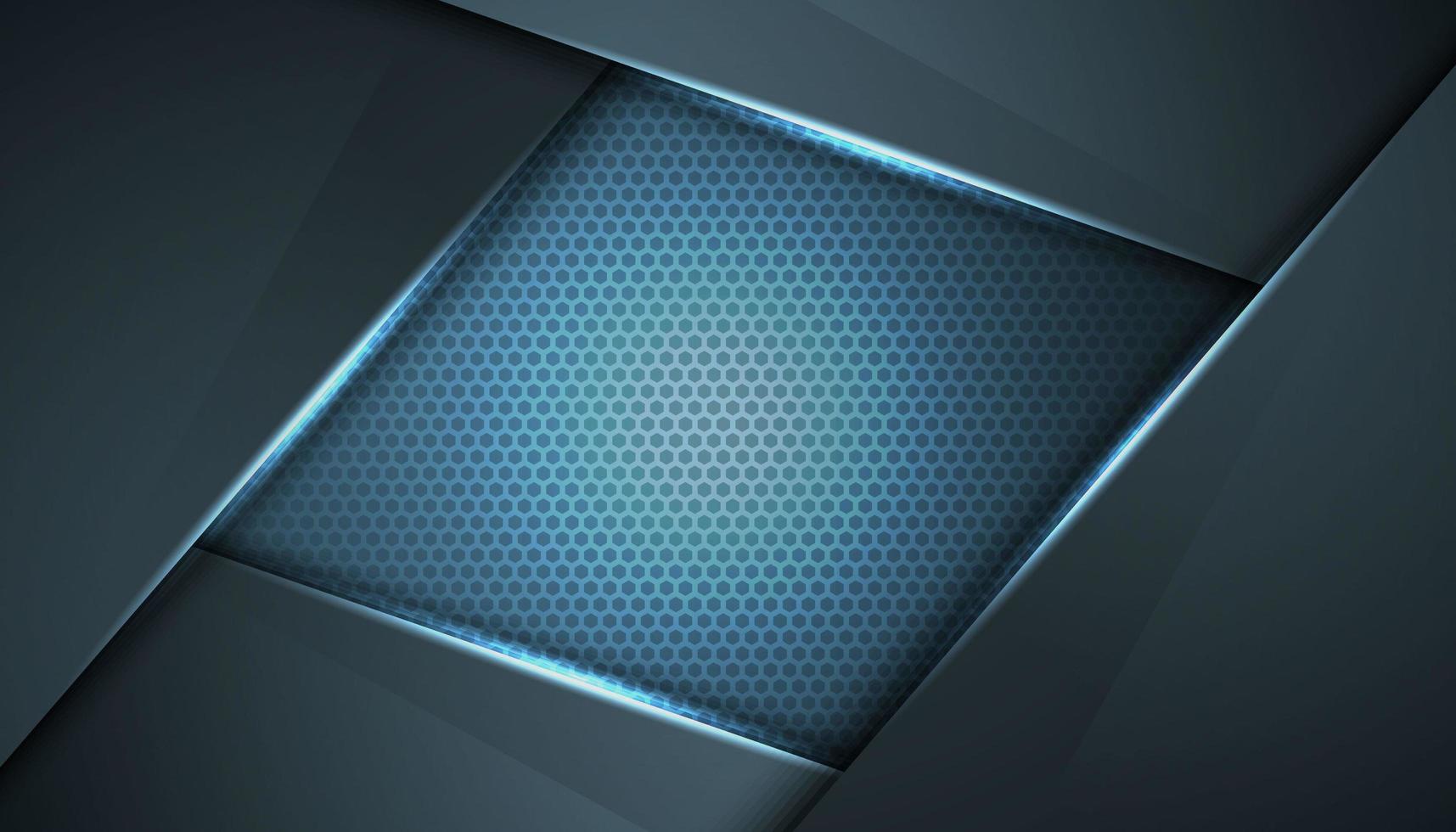 Fondo innovador marco azul gris abstracto vector