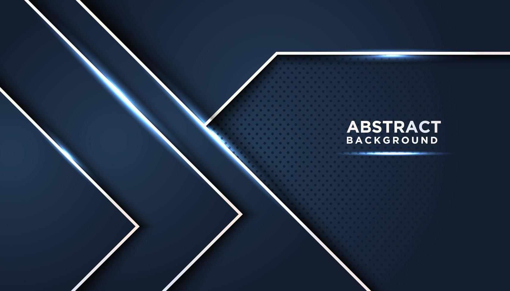 Fondo abstracto azul oscuro con capas geométricas brillantes vector