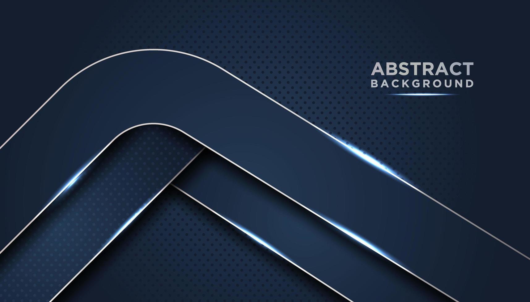 Fondo abstracto azul oscuro con capas redondeadas vector