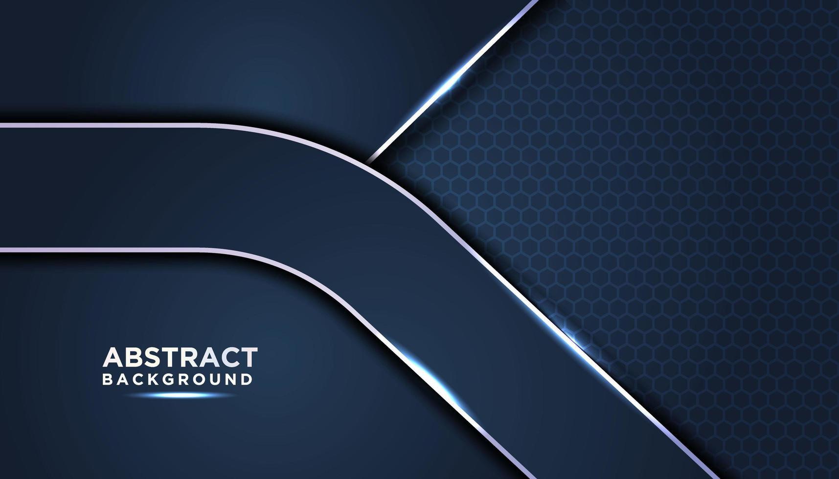 capas de fondo abstracto azul oscuro vector