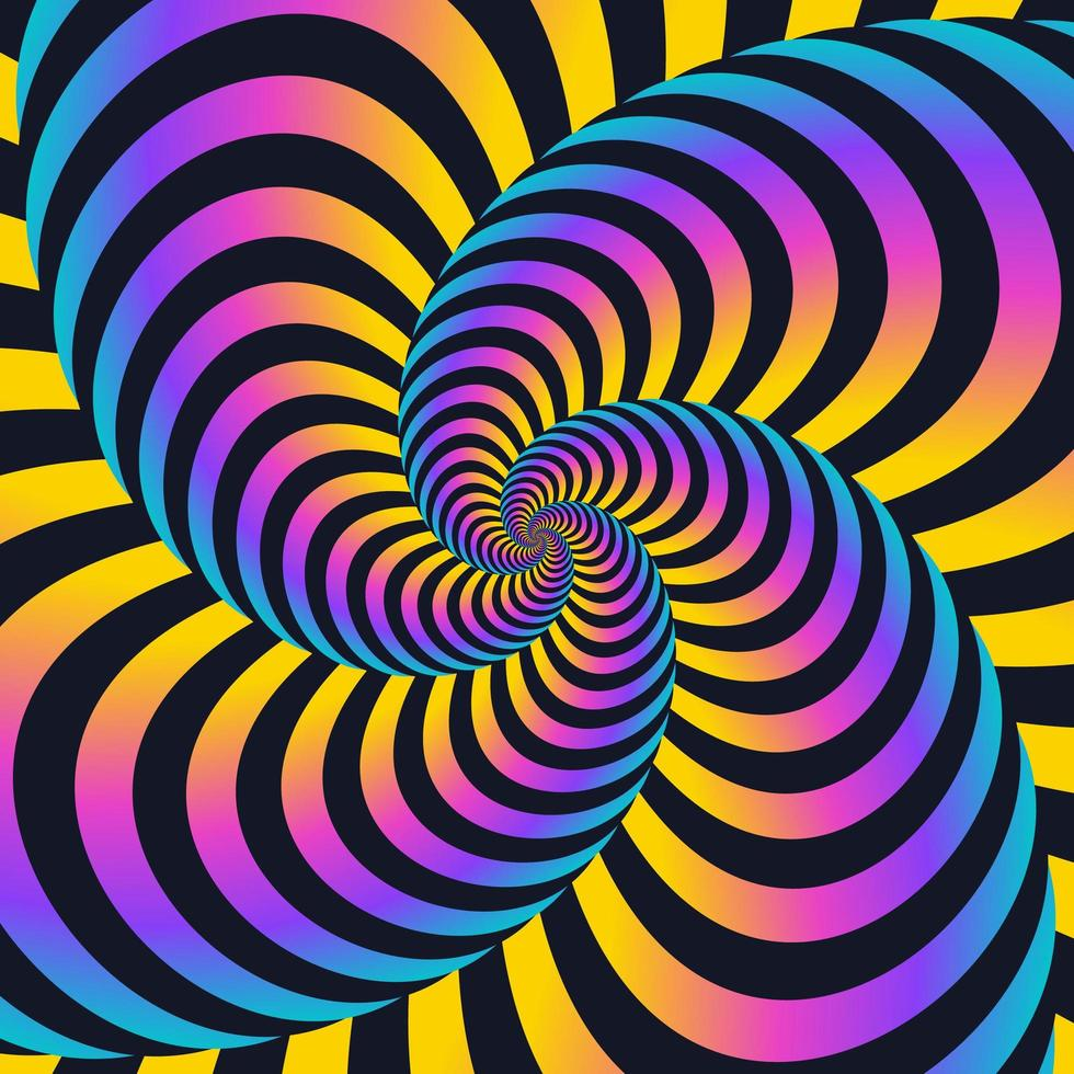 Colorful Twisted Swirls Movement Lines Background vector