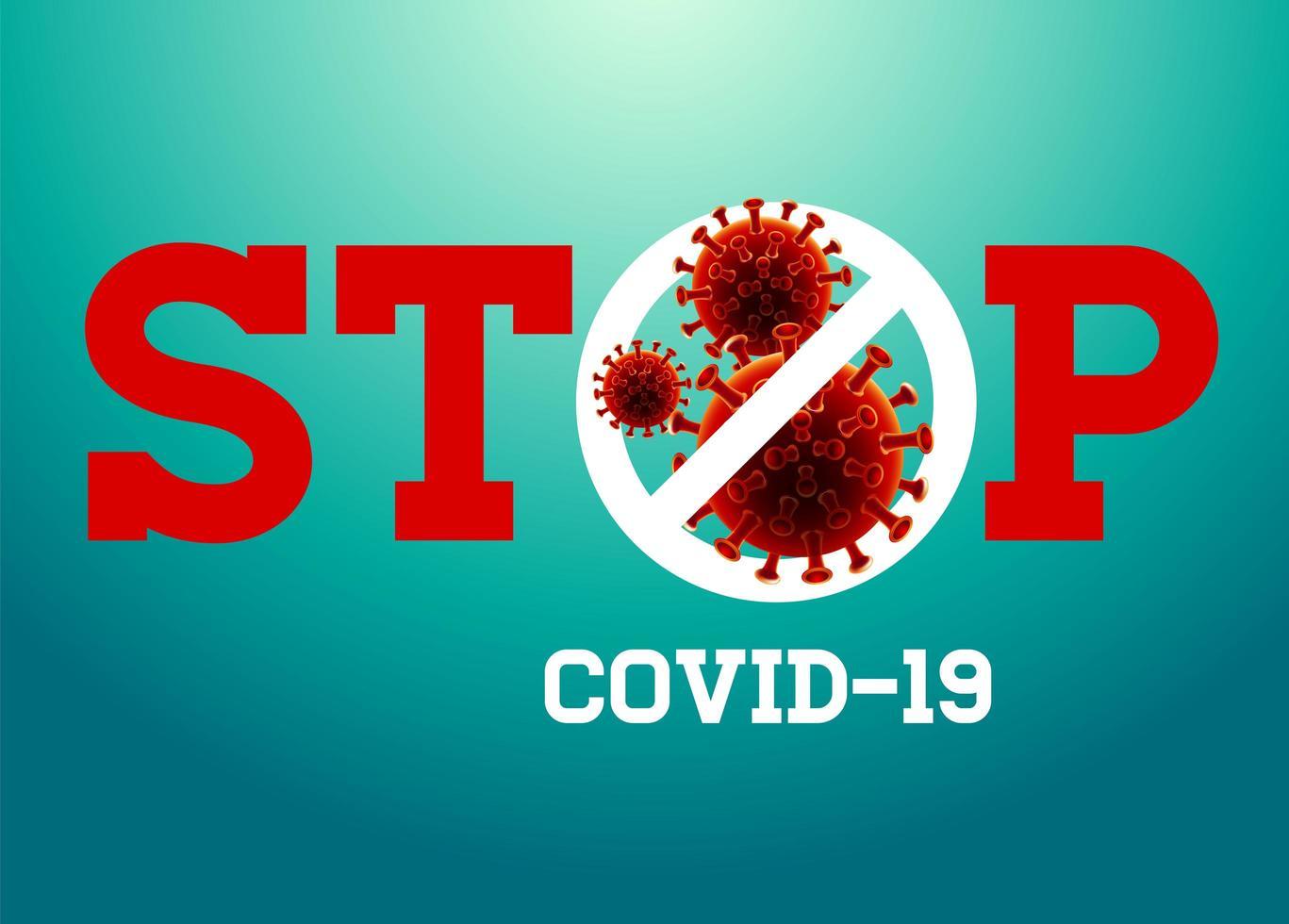 detener el diseño del coronavirus covid-19 vector