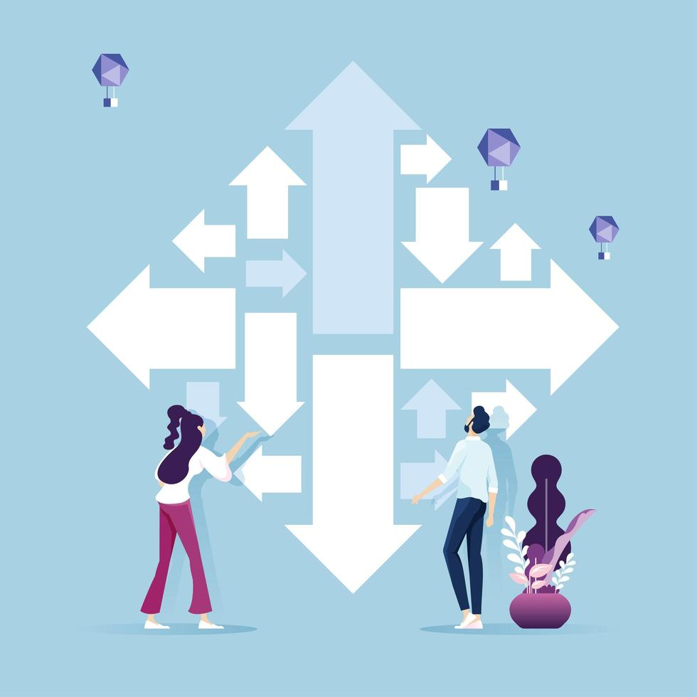 desafío empresarial y concepto de solución de tareas vector