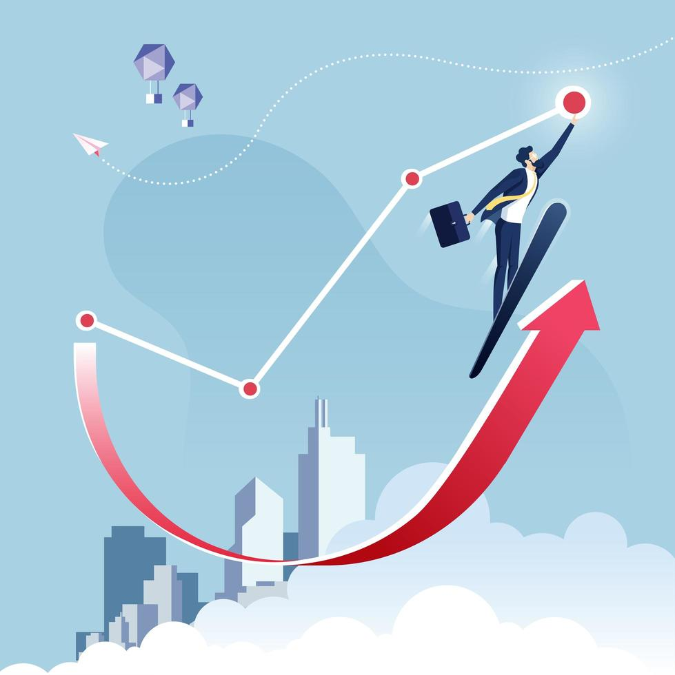 Reaching the Target Business Concept  vector