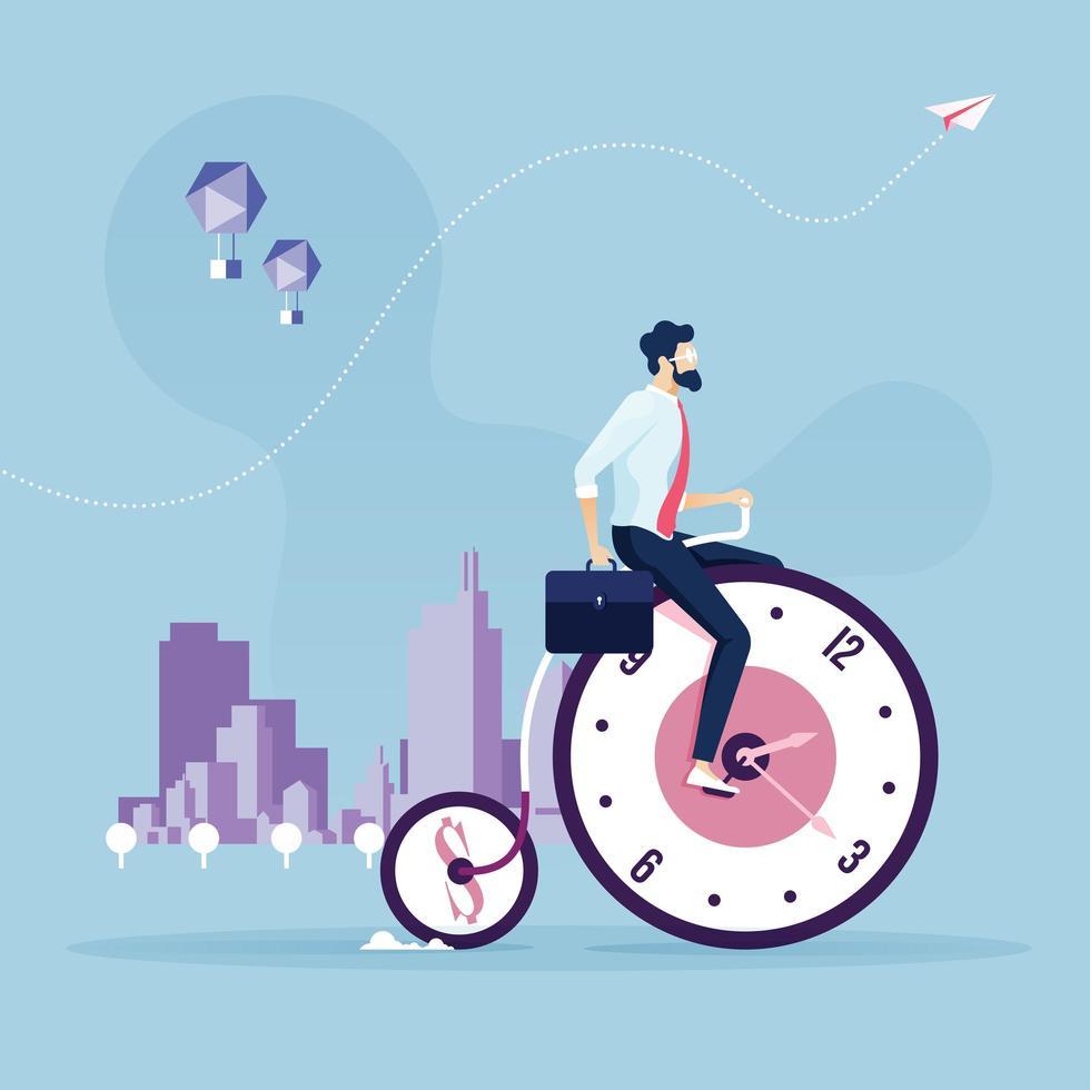 concetto di business di gestione del tempo vettore