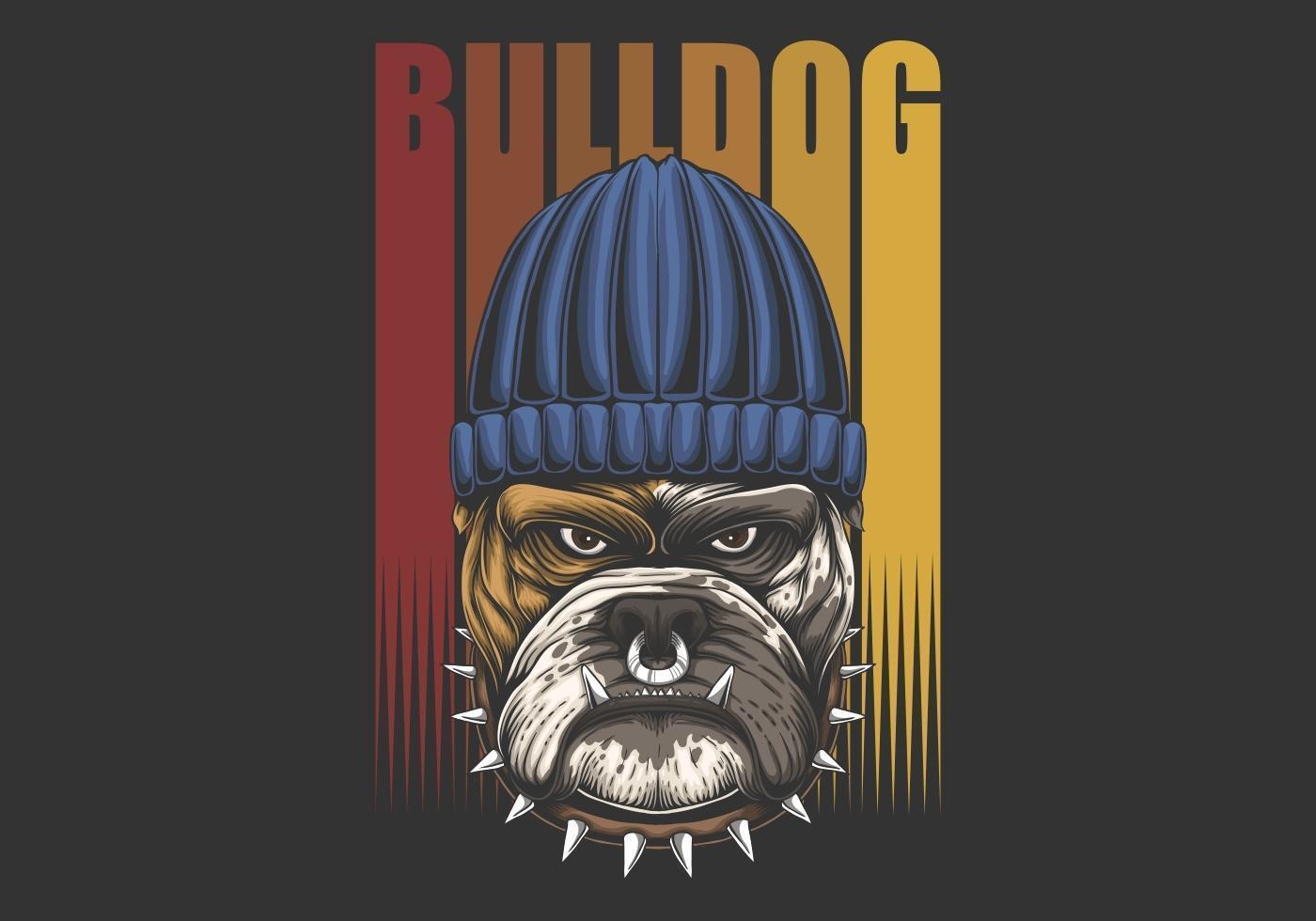Urban Bulldog Retro Illustration vector