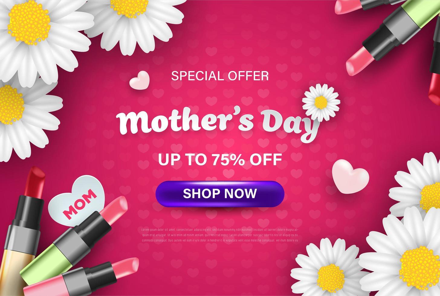 fond d'écran de célébration de la vente de la fête des mères heureux vecteur