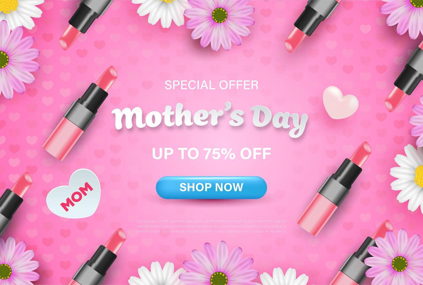 offre spéciale fond de fête des mères vecteur