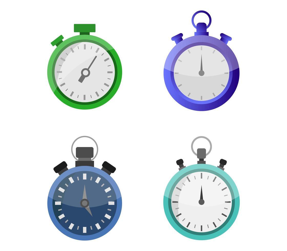 ensemble d'icônes de chronomètre vecteur